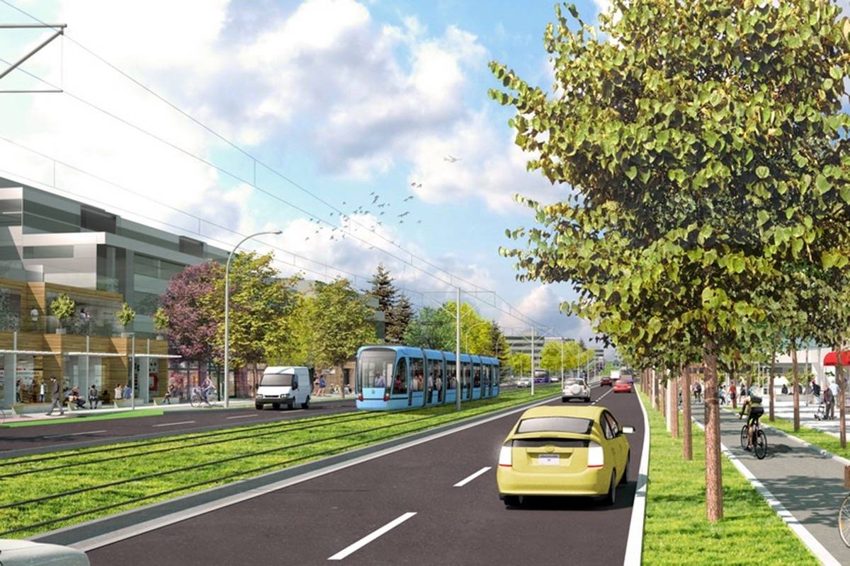 Vision for Surrey light rail transit. (Submitted photo).