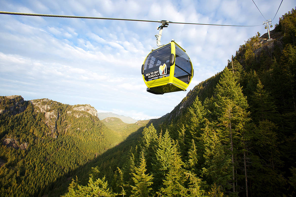 The Sea-to-Sky gondola was one design TransLink staff looked at for the Burnaby Mountain gondola. (Paul Bride/SeatoSky)