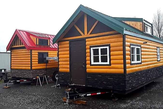 Two tiny homes that were stolen from Rolling Bear Tiny Homes in Surrey last week were recovered by police on New Year's Eve. (Rolling Bear Tiny Homes Facebook photo)